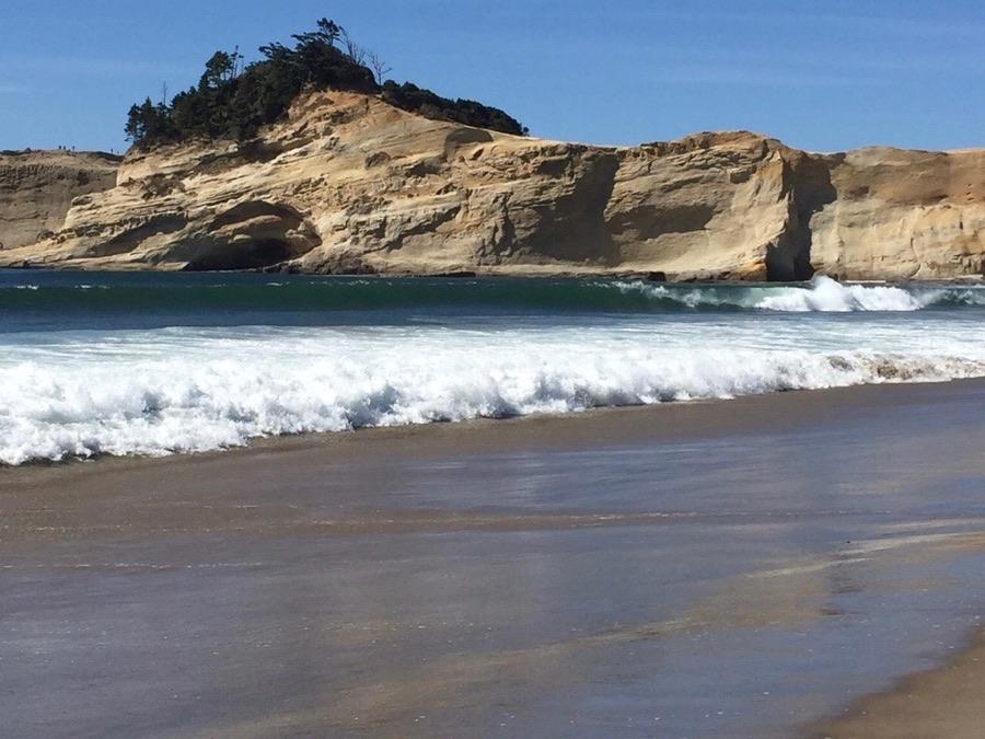 Oregon coast beach.
